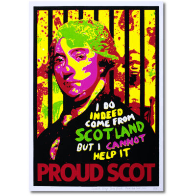 screen print Scottish Cringe Proud Scot James Boswell Martin Scott Laird woo