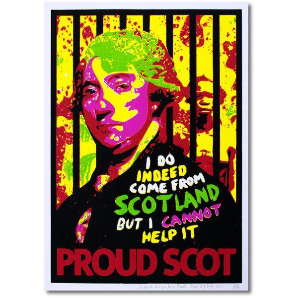 screen print Scottish Cringe Proud Scot James Boswell Martin Scott Laird woo