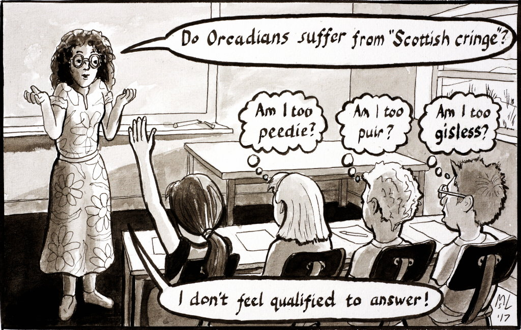 peedie schools Scottish cringe cartoon by martin scott laird 2017