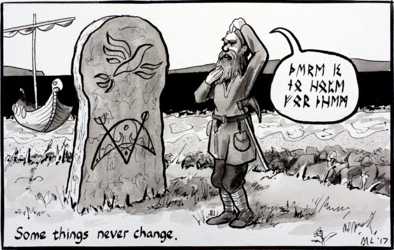 cartoon. some things never change martin scott laird 2017