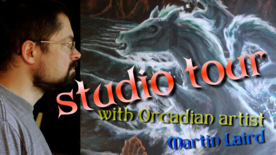 Studio tour with Orcadian artist Martin Laird