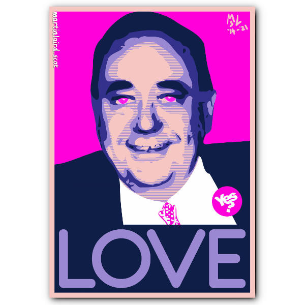 Post-ironic Salmond Love digital print product preview