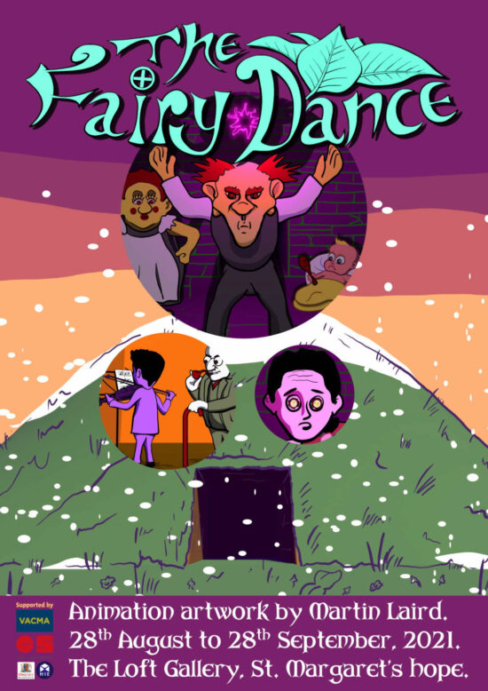 The Fairy Dance - animation artwork by Martin Laird on show at the Loft Gallery in St Margarets Hope from 28th August to 28th September 2021.